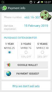 cara bayar whatsapp