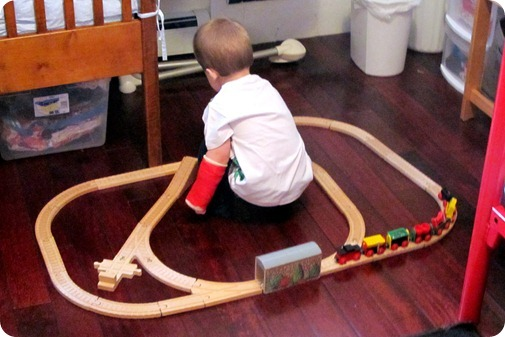 Playing Trains One Handed