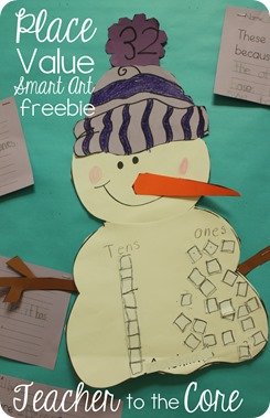 Place Value is fun to think about with this  Snowman Smart Art Freebie (4)