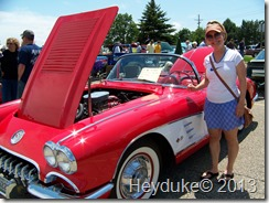 Sharon and her hot vette