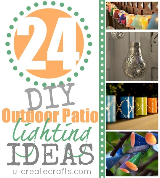 24 DIY Patio Lighting Ideas at u-createcrafts.com