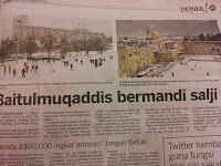 Kiamat Dah Dekat negara arab turun salji
