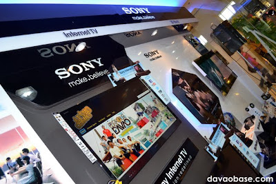 Sony Internet TV and 3D World sections at Sony Centre in Abreeza Mall