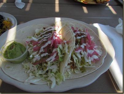 fish tacos at sparkys