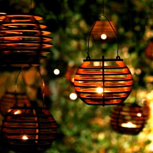 Outdoor Tea Lights Light up your next outdoor party one man one garage made to hold small tealights they are about the size of a softball you dont need any glue either workwithnaturefo