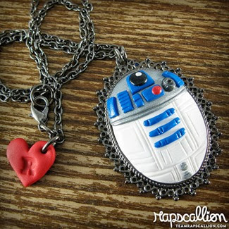 R2D2 Cameo Necklace from Rapscallion Design