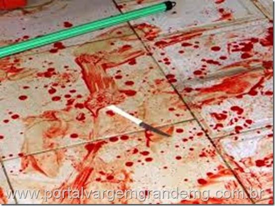 sangue no chão