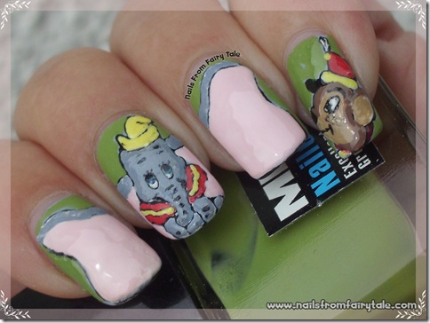 dumbo nail art 2