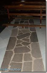 Línea de muro de las antiguas habitaciones del Palacio Nuevo de Javier