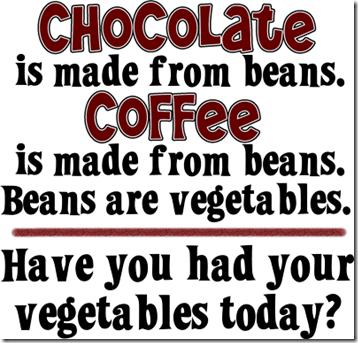 chocolate-coffee vegetables