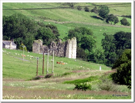 14th Century Thirlwell Castle built from stone robbed from Hadrians Wall.
