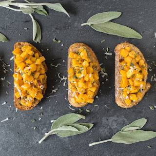 Roasted butternut squash bruschetta & signed Ina Garten cookbook giveaway