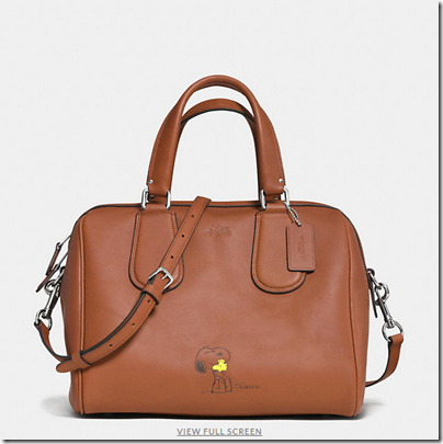 COACH X Peanuts surrey satchel - USD 450 - SV saddle