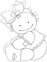 Baby02a Dibujos para calcar o colorear bebes