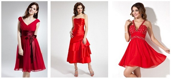 Red homecoming dresses - fab!