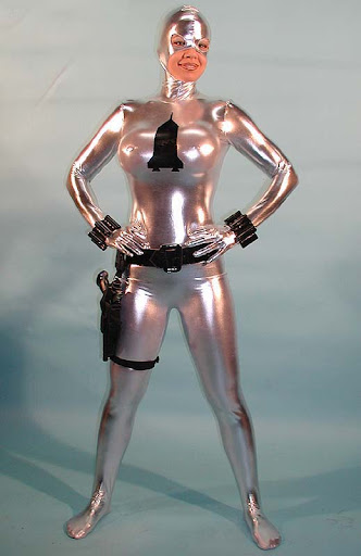 The famous Rocket Girl - a superheroine who wears a brilliant and ...
