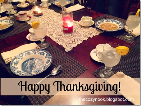 Happy Thanksgiving - The Cozy Nook
