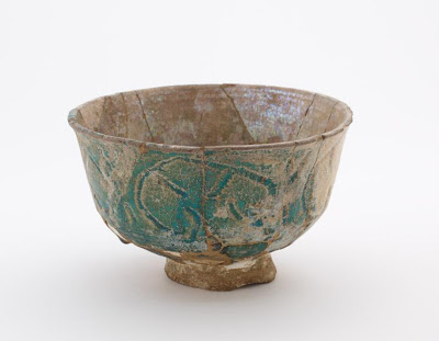 Bowl | Origin:  Syria | Period: 12th-13th century | Details:  Not Available | Type: Stone-paste painted under glaze | Size: H: 12.2  W: 20.0  cm | Museum Code: F1911.19 | Photograph and description taken from Freer and the Sackler (Smithsonian) Museums.
