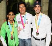 Lino Montes, Pedro Vivas y David Mier 2011