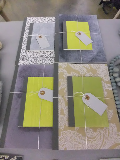 She also made these great notepads covered in different fabrics and paper. A great gift for anyone on your list.