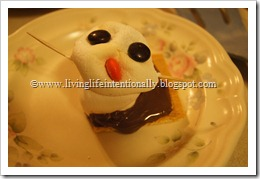 Snowmen Dessert for Kids