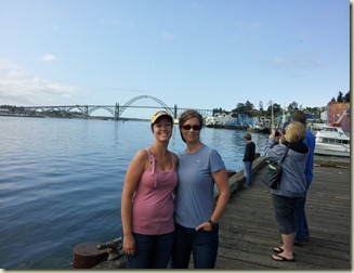Megan & Theresa on crabbing dock