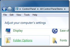 Folder Option Windows