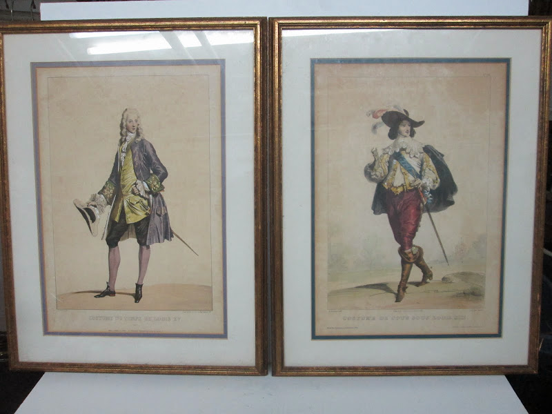 Antique French Etching Pair