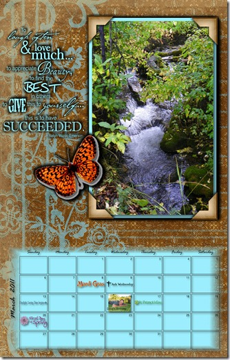 2011_Calendar done by Barbara Milne in Storybook Creator