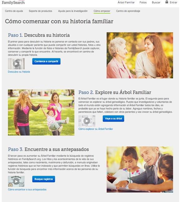 FamilySearch nueva interfaz