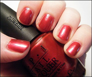 OPI I'm Not Really a Waitress Swatch