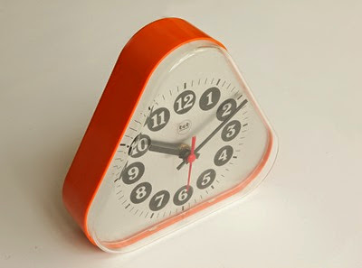 orange bob wall or desk clock top