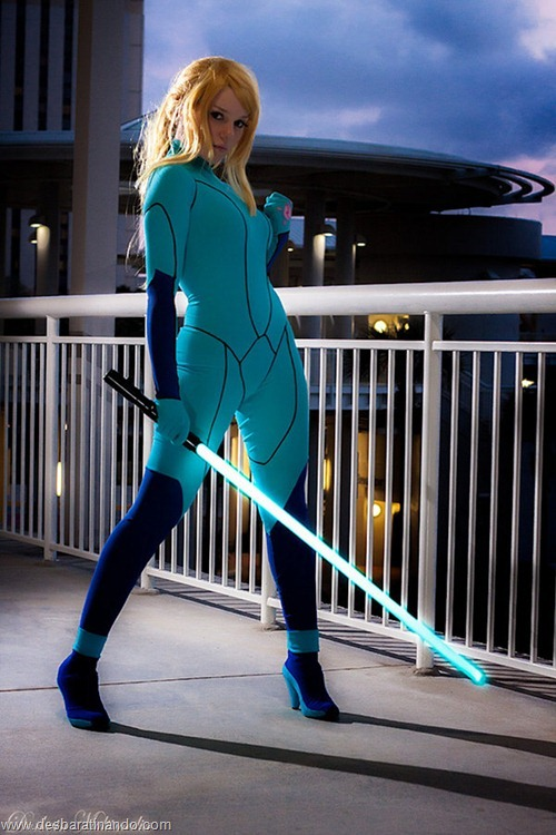 Mashup Metroid Star Wars samus cosplay blonde  (3)