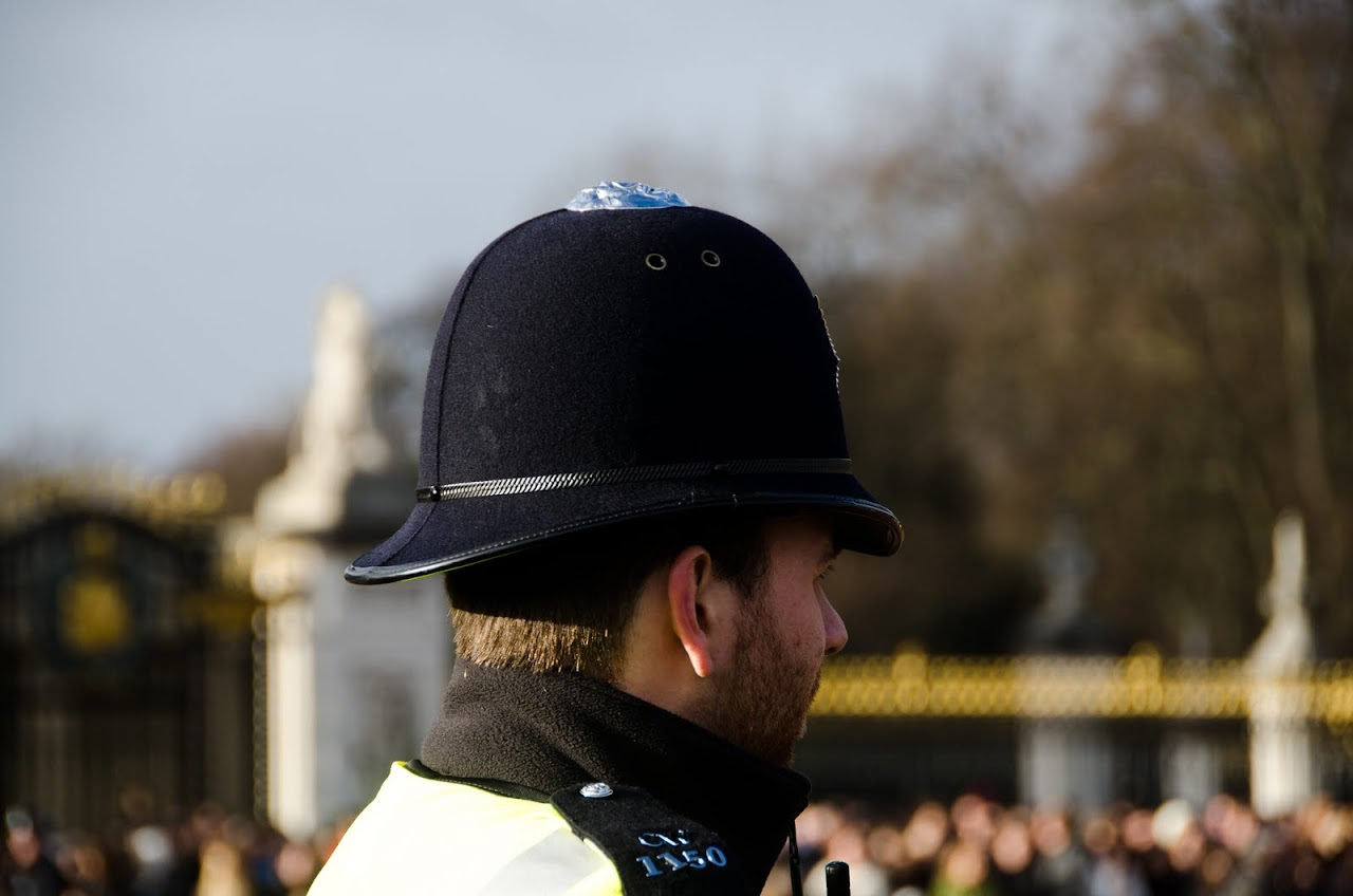 Police at changing of the guards
