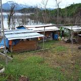 焼畑に作られた出作り小屋。