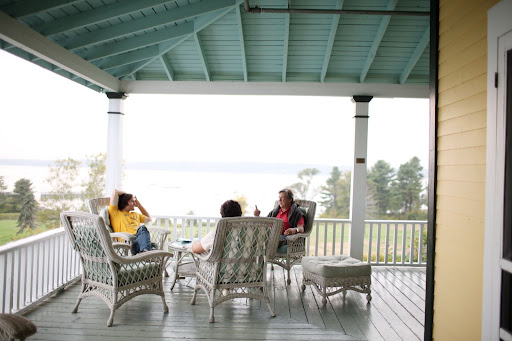 Guests enjoyed resting on the inn's wrap-around porch throughout the weekend.