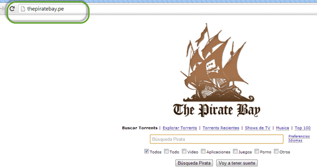 dominio peruano para the pirate bay