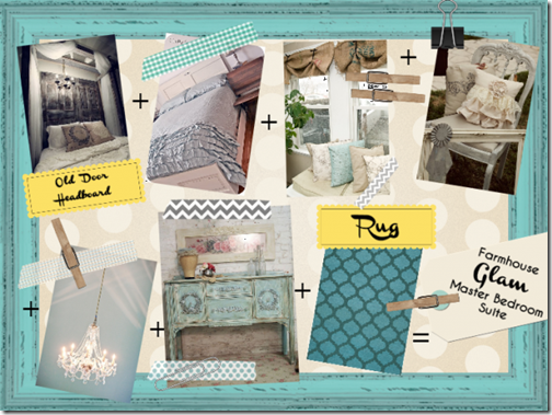 Farmhouse Glam Master Bedroom Inspiration Board