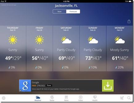 Jacksonville weather!