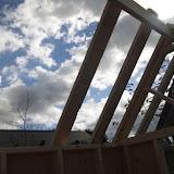 屋根の基礎部分とりつけ