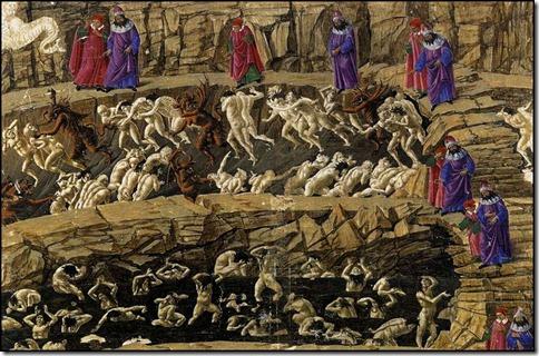 Botticelli_The_Divine_Comedy_Inferno_Canto_XVIII_(1480s__Berlin,_Staatliche_Museen)