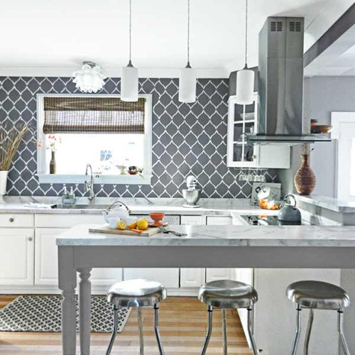 The Backsplash Other Than Tile from Thrifty Decor Chick