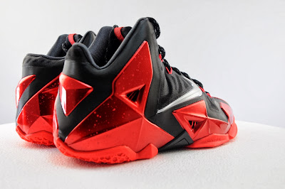 nike lebron 11 gr black red 5 06 Detailed Look at Nike LeBron XI Miami Heat Away