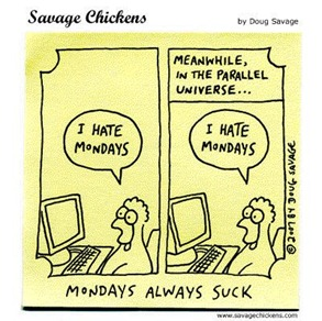 Monday I hate mondays cartoon