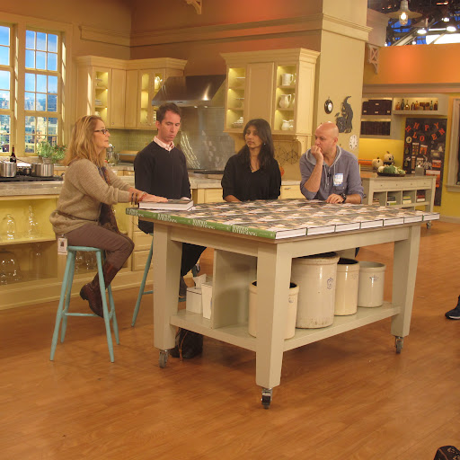 Barbara fills in for Martha again, in our seating arrangement for the opening segment of the episode. She, myself, Deputy Creative Director Ayesha Patel, and Chef Pierre Schaedelin sat at this table to discuss our favorite images from the new book.