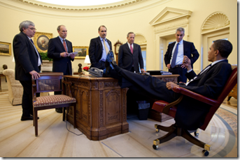 obama feet on desk