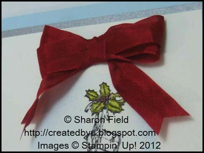 sponge crinkled ribbon using a damp sponge