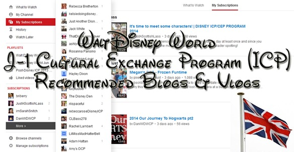 walt disney world j1 cultural exchange program recommended blogs and vlogs