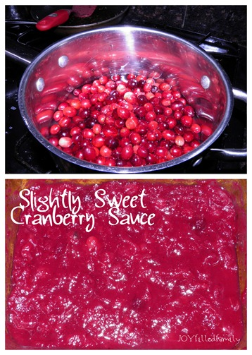 Slightly Sweet Cranberry Sauce collage