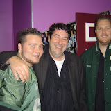 Comedian and radio personality Tim Smith with Daniel Williams and Grantlee O'Sullivan